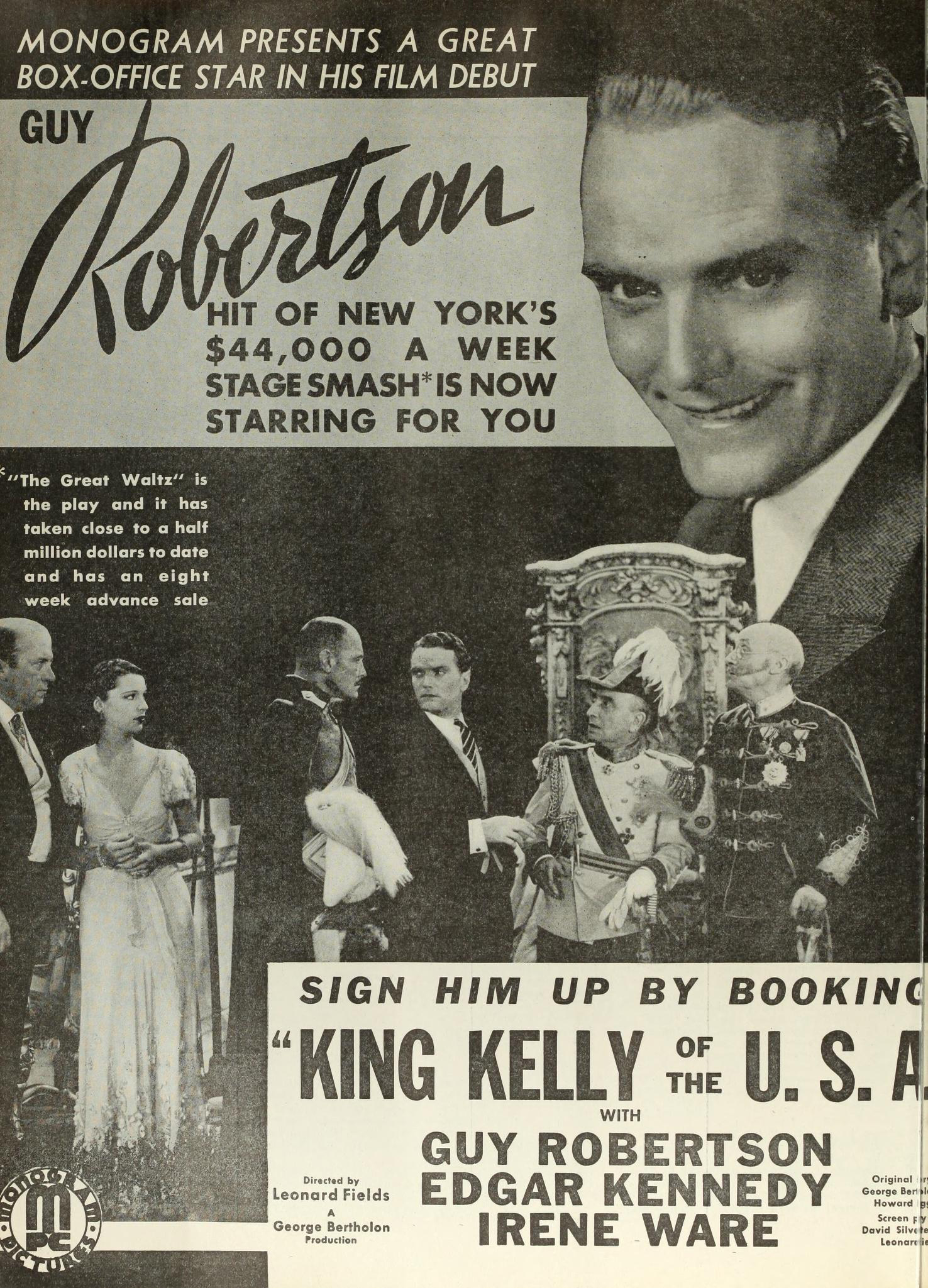 King Kelly of the U.S.A.